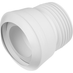 McAlpine McAlpine Macfit MAC-7A Flexible WC Connector 14° Angle 110mm - 91848 - from Toolstation