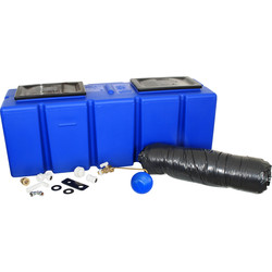 25 Gallon Polytank Blue Water Storage Tank 1190 x 380 x 420mm