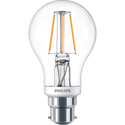 Philips Philips LED Filament A Shape Dimmable Lamp 5.5W BC (B22d) 470lm - 91863 - from Toolstation