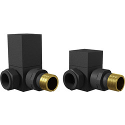 Cassellie Corner Radiator Valve Pack (Pairs) Anthracite - 91882 - from Toolstation