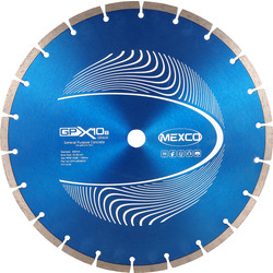 Mexco Mexco General Purpose GPX10-8 Diamond Blade 300 x 20mm - 91934 - from Toolstation