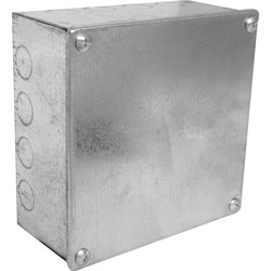"Metal Box with Knock Outs 6 x 6 x 3"" - 91938 - from Toolstation"
