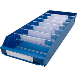 Barton Blue Shelf Bin 600 x 240 x 95mm - 91941 - from Toolstation