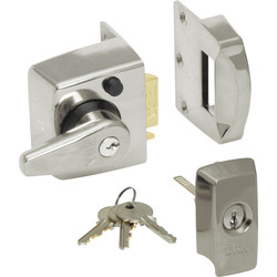ERA BS High Security Nightlatch Satin Chrome Narrow