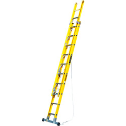 TB Davies TB Davies Pro Fibreglass Double Extension Ladder 3.8m - 91963 - from Toolstation