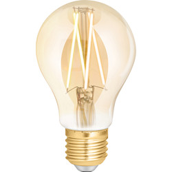 4lite WiZ 4lite WiZ LED A60 Smart Filament Wi-Fi Bulb 6.5W ES 720lm Amber - 92039 - from Toolstation