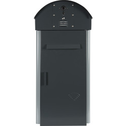 IBox Secure Smart Video Doorbell Postbox 600mm Anthracite Grey - 92119 - from Toolstation