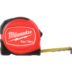 Milwaukee Milwaukee Slim Tape Measure 5m/16ft - 92212 - from Toolstation