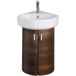 Ideal Standard Ideal Standard Senses Space Corner Basin & Unit American Oak - 92368 - from Toolstation