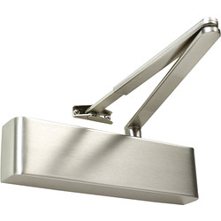 Rutland Rutland TS.9205 Door Closer Satin Nickel Size 2-5, With Cover - 92400 - from Toolstation