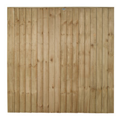 Forest Garden Pressure Treated Square Board  Fence Panel - 3 Pack