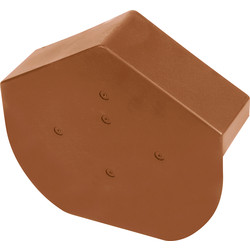 Dry Verge Angled Cap Brown - 92469 - from Toolstation