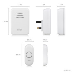 Byron Wireless Doorbell Set