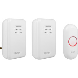 Byron Byron Wireless Doorbell Set DBY-22314UK - 92493 - from Toolstation