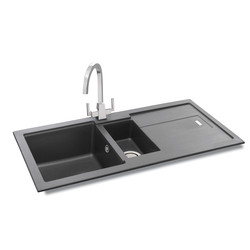 Carron Phoenix Bali Granite Composite 1.5 Bowl Kitchen Sink & Drainer