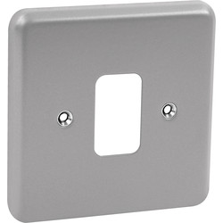 MK MK Grid Plus Metal Front Plate 1 Gang - 92546 - from Toolstation