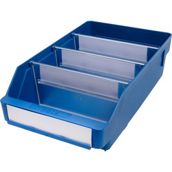 Barton Blue Shelf Bin 300 x 180 x 95mm - 92624 - from Toolstation