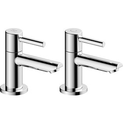 Ebb and Flo Pentle Taps Basin Pillar - 92643 - from Toolstation