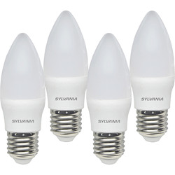 Sylvania Sylvania LED Frosted Candle Lamp 5W ES (E27) 470lm - 92666 - from Toolstation