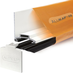 Alukap Alukap-XR Concealed Fix Wall Bar with Gasket White 3000mm - 92703 - from Toolstation