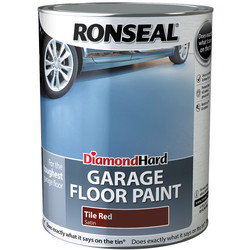Ronseal Diamond Hard Garage Floor Paint Red 5L