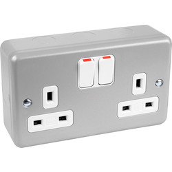 MK Metal Clad DP Switched Socket 2 Gang
