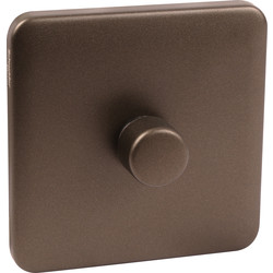 Schneider Electric Schneider Lisse Mocha Bronze Screwless Dimmer 1 Gang 2 Way 400W - 92742 - from Toolstation