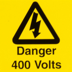 CED Electrical Warning Signs Danger 400 Volts - 92851 - from Toolstation
