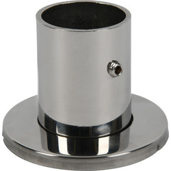 Stainless Steel End Socket 25mm With Cover Plate - 92877 - from Toolstation