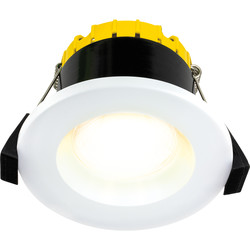 Luceco FType Compact Regressed Integrated Dim2Warm 6W Fire Rated IP65 Downlight