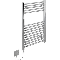Kudox Kudox Electric Pre-Filled Chrome Flat Towel Radiator 800 x 500mm 200W - 92889 - from Toolstation