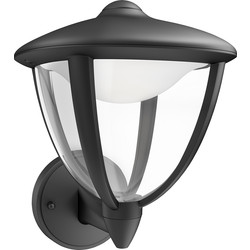 Philips Philips LED Robin Outdoor Wall Lantern IP44 4.5W Black 430lm - 92925 - from Toolstation