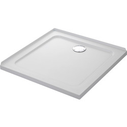 Mira Flight Safe Square Shower Tray 800 x 800mm 2 Upstands