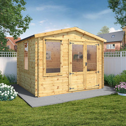 Mercia Merica Log Cabin - 19mm 3.3m x 3m - 92946 - from Toolstation