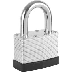 Tri Circle Security Laminated Padlock 40 x 6 x 24mm KA - 92949 - from Toolstation