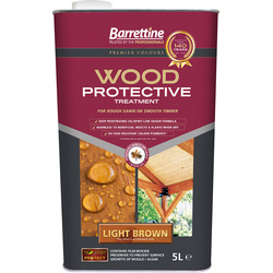 Barrettine Wood Protective Treatment & Preserver 5L Light Brown - 93006 - from Toolstation