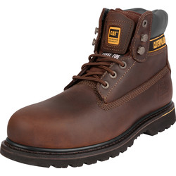 CAT Caterpillar Holton Safety Boots Brown Size 8 - 93061 - from Toolstation