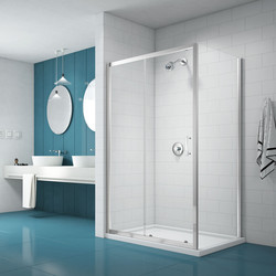 Merlyn Nix Merlyn NIX Sliding Shower Enclosure Door and Side Panel 1600 x 900mm - 93069 - from Toolstation