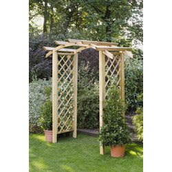 Forest Forest Garden Genoa Arch 242cm (h) x 180cm (w) x 90cm (d) - 93116 - from Toolstation
