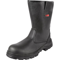 Blackrock Safety Rigger Boots Size 8 Black - 93182 - from Toolstation