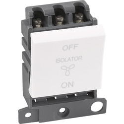 Scolmore Click Click Mode Grid Module 10A 3 Pole Fan Isolator (Twin Width) - 93193 - from Toolstation
