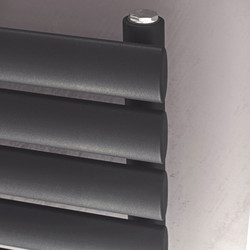 Ximax Ximax Bristol Single Horizontal Designer Radiator 584 x 1000mm 2251Btu Anthracite - 93244 - from Toolstation
