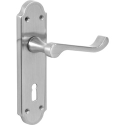 Jedo Mandara Door Handles Lock Satin - 93258 - from Toolstation