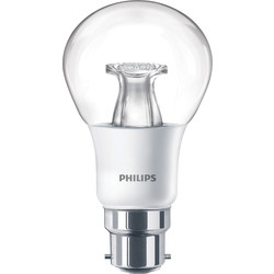 Philips Philips LED Warm Glow Dimmable A Shape Lamp 6W BC (B22d) 470lm - 93282 - from Toolstation