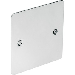 Flat Plate Polished Chrome Blank Plate 1 Gang - 93313 - from Toolstation