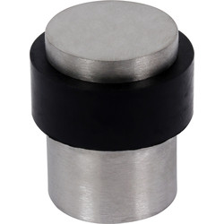 Satin Stainless Steel Floor Door Stop 30mm - 93352 - from Toolstation