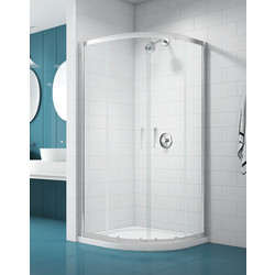 Merlyn NIX  Merlyn NIX Sliding 2 Door Quadrant Shower Enclosure 800 x 800mm - 93358 - from Toolstation