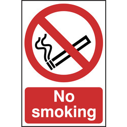 Prohibition Sign No Smoking 148x210 - 93474 - from Toolstation