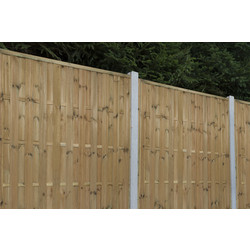 Forest Forest Garden Pressure Treated Vertical Hit & Miss Fence Panel - 5 Pack 6' x 6' - 93480 - from Toolstation