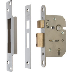 ERA Viscount 5 Lever Mortice Sashlock 76mm Chrome - 93482 - from Toolstation